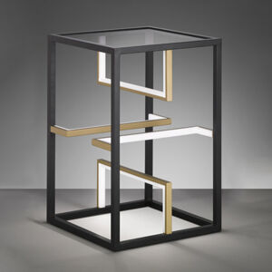 FISCHER & HONSEL LED stolní lampa Square 40x40cm, výška 60cm