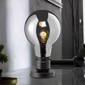 FISCHER & HONSEL Stolní lampa Louis, skleněné stínidlo, 37 cm