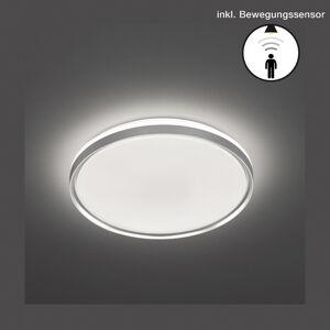 FISCHER & HONSEL LED stropní světlo Jaso BS, Ø 39 cm, stříbrná