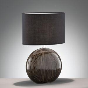FISCHER & HONSEL Stolní lampa Marin s keramickou nohou, výška 53 cm
