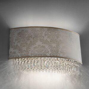 Masiero Nástěnné světlo Glassé, 50 cm damaškové stínidlo
