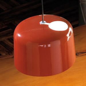 Karboxx Oranžové lesklé keramické závěsné světlo Add