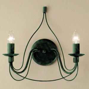 Kögl Nástěnné světlo FILO 2zdrojové zelené antické