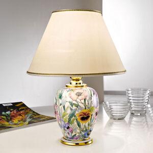 AUSTROLUX BY KOLARZ Stolní lampa Giardino Panse, květiny, Ø 25 cm