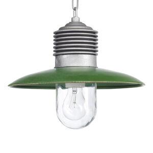 K. S. Verlichting Venkovní závěsné světlo Ampere hliník/zelené