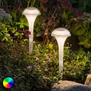 Konstmide LED solární lampa Assisi, balení 2ks vypouklá