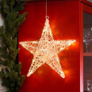 Konstmide CHRISTMAS Pěticípá akrylová hvězda Ingar s LED
