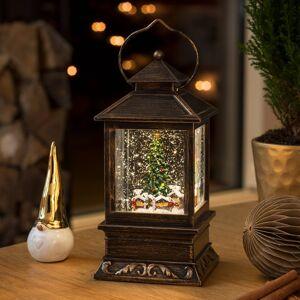 Konstmide CHRISTMAS LED lucerna naplněná vodou vánoční trh