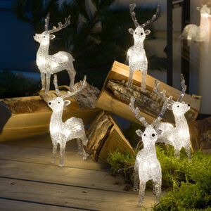 Konstmide CHRISTMAS LED osvětlení sob pro exteriér, sada 5 ks