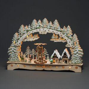 Konstmide CHRISTMAS LED vánoční oblouk otáčející se figurky