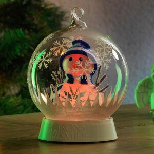 Konstmide CHRISTMAS LED světlo skleněná koule sněhulák