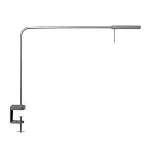 GLamOX LED pracovní lampa Ninety se svorkou stříbrošedá