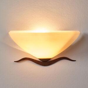 Lam Půlkulaté venkovské nástěnné světlo Samuele, krém