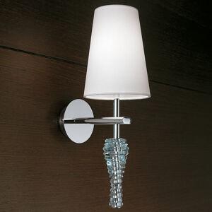 Lam Ozdobné nástěnné světlo Crystal bílá