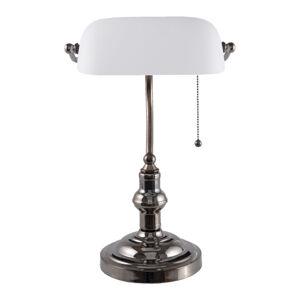 Clayre & Eef Stolní lampa 5100W s bílým skleněným stínidlem