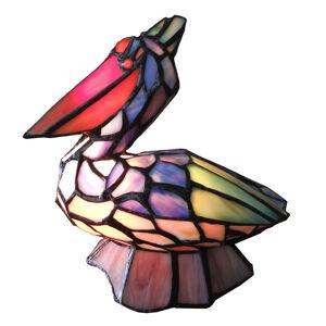 Clayre & Eef Dekorační světlo 6003 ve tvaru ptáka, styl Tiffany