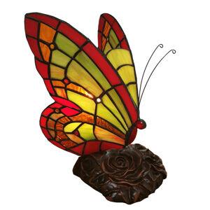 Clayre & Eef Dekorační světlo 6011, motýl, styl Tiffany