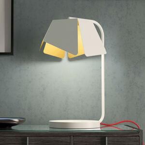 Marchetti V bílé barvě, červený kabel - stolní lampa Flower