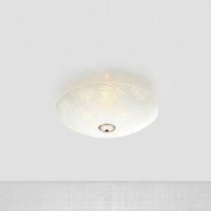 Markslöjd Skleněné stropní světlo Blad, Ø 35 cm