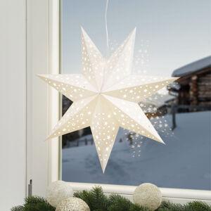 Markslöjd Hvězda Solvalla k zavěšení, 45 cm, stříbrná