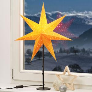 Markslöjd Stojací hvězda Clara, hvězda žlutá noha černá