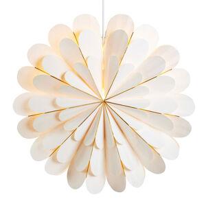Markslöjd Dekorační hvězda Marigold závěsná, bílá, Ø 60 cm