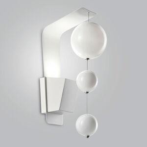 Mettallux Nástěnné světlo Bolero, bílý držák, bílé koule
