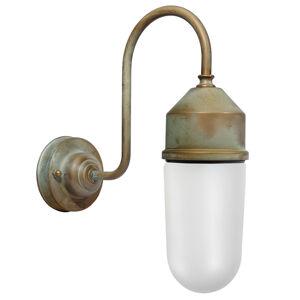 Moretti Nástěnné světlo 1950N antická mosaz, sklo opál