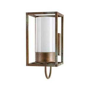 Moretti Venkovní nástěnné světlo Cubic³ 3362 mosaz/opálová