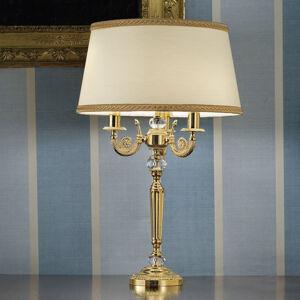 Masiero Noblesní stolní lampa Marvine, pozlacená