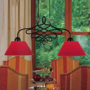 Menzel Menzel Sorent závěsné světlo, 2 červená stínidla