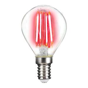 LIGHTME LED žárovka E14 4W Filament, červená