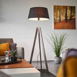 Lucande Thea – dřevěná stojací lampa se stínidlem