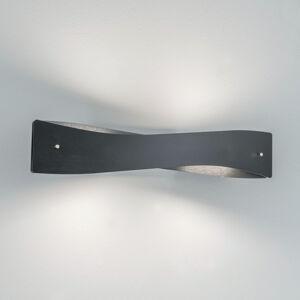 Lucande Lucande Lian LED nástěnné světlo, černé, hliník