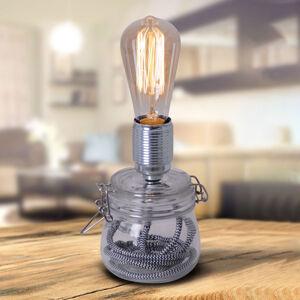 Näve Stolní lampa Max se skleněnou základnou