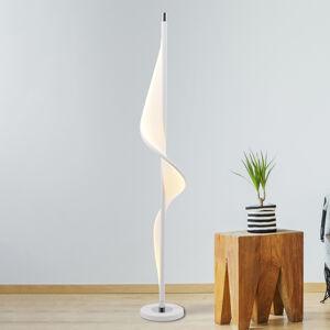 Näve LED stojací lampa Bandera, design vlny