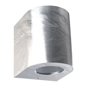 Nordlux LED venkovní nástěnné světlo Canto 2, 10 cm, zinek