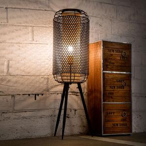 Nino Leuchten Stolní lampa Denton ve stylu vintage, černá-zlatá