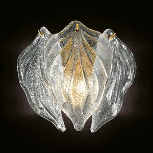 Novaresi Skleněné nástěnné světlo Foglie ze skla Murano