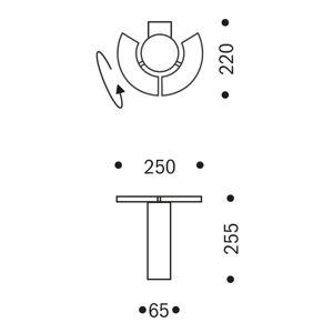 OLIGO OLIGO Trinity LED závěsné světlo 2 pohyblivé prvky