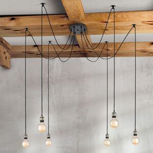 Orion Šestižárovkové závěsné světlo Jailhouse vintage