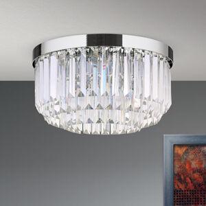 Orion LED stropní svítidlo Prism, chrom, Ø 35 cm