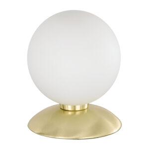 Paul Neuhaus Decentní stolní lampa BUBBA mosaz matná