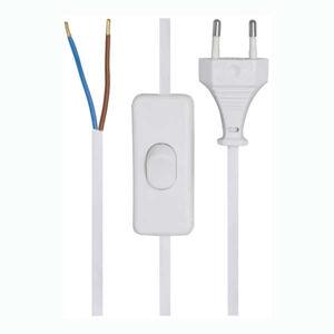 Pferdekaemper Připojovací kabel 2x0.75² s vypínačem bílý