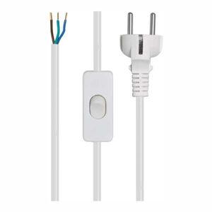 Pferdekaemper Připojovací kabel 3x0,75² s vypínačem bílý