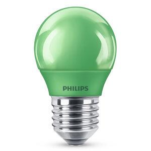 Philips E27 P45 LED žárovka 3,1W, zelená