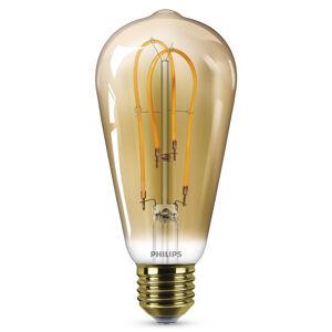 Philips Philips E27 ST64 LED žárovka Curved 4W 2500K zlatá