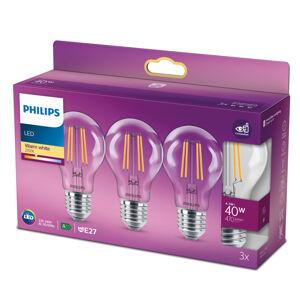 Philips Philips LED Classic E27 4,3W 2700K čirá 3ks