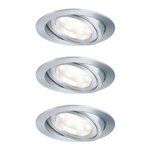 Paulmann Paulmann LED bodové svítidlo Coin 3x7W, hliník