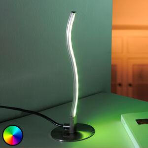 Lindby Stolní LED lampa Tamino sdálkovým ovladačem
